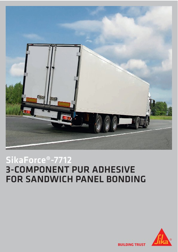 3-Component PUR adhesive for Sandwich Panel Bonding - SikaForce®-7712